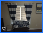 Matching Curtains and couch pillows in Camp Lejeune, North Carolina