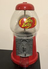 "11"" Jelly Belly Diecast Bean Machine Dispenser Glass Dome Coin Operated in Joliet, Illinois"