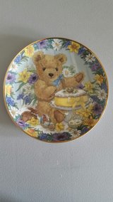 """Porcelain Bear Plates 8"""" Designed by Sarah Bengry (Six Plates) in Yucca Valley, California"""