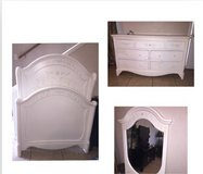 Ashley wood head and foot board frame w dresser and mirror in Lawton, Oklahoma