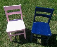 Vintage children's chairs, in Perry, Georgia