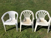 3 Plastic Chairs in Elizabethtown, Kentucky