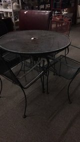 Metal Patio Set with 4 Chairs in Fort Leonard Wood, Missouri