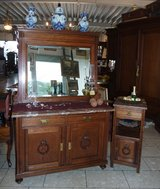 tiger oak dresser with matching night stand in Ramstein, Germany