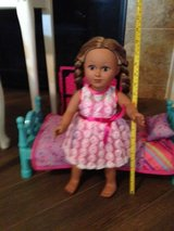 """18"""" Doll and Doll Bed in Tomball, Texas"""