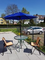 Patio table with Umbrella and 2 chairs in Stuttgart, GE