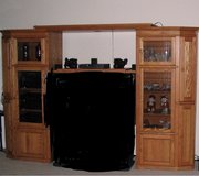 Entertainment Center 6 1/2 feet tall-in excellent condition-middle cabinet not included in Byron, Georgia