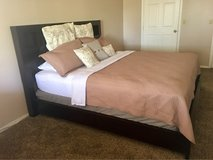 king size wood bed frame (mattress not included) in Las Cruces, New Mexico