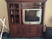 Solid  wood entertainment center with free JVC TV in Fort Polk, Louisiana