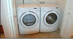 Whirlpool frontload duet washer and gas dryer in San Diego, California