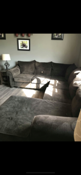 Dark brown sectional in Fort Leonard Wood, Missouri