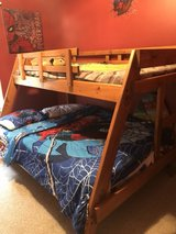 twin over full bunk bed, full mattress included in Camp Lejeune, North Carolina