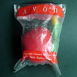 RED APPLE PINCUSHION w WORM, THIMBLE, TAPE MEASURE Avon Gift Collection in St. Charles, Illinois