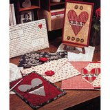 Valentine Card & Envelope DIY - Quilt Pattern From a Magazine in Chicago, Illinois