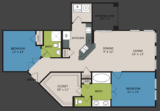 2 Bedroom (Highrise) in Fort Sam Houston, Texas