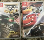 Cars 3 - Monster Jam Nintendo Switch - $35 for both in Perry, Georgia