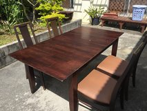 Solid Wood Table & 4 Chairs in Okinawa, Japan
