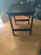 Small black table in Lackland AFB, Texas