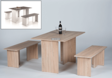Dining table with benches in Ramstein, Germany