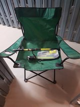 Camping chair with fishing  pole in Wiesbaden, GE