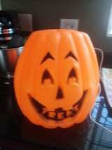 Blow mold Halloween pumpkin in Palatine, Illinois