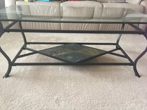 Glass and metal table in Naperville, Illinois