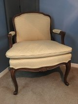 Antique French Benguere Chair W/Down Filled Cushion. in Kingwood, Texas