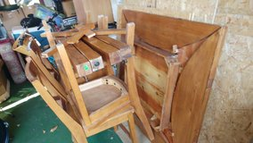 Oak Table with Chairs in Lakenheath, UK