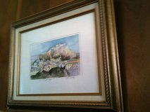 Framed and matted original watercolors in Fort Leonard Wood, Missouri