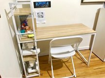 Spacious Desk with Shelves in West Orange, New Jersey