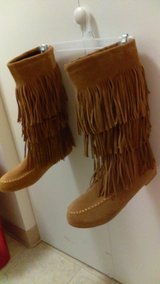 Fringe boots in Fort Lewis, Washington
