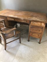 School desk & chair from Grundy County in Plainfield, Illinois