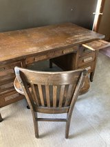 School desk and chair from Grundy County in Aurora, Illinois