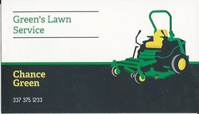 Mowing down the competition....Green's Lawn Service in Fort Polk, Louisiana