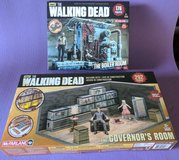 Walking Dead building sets:. Rick in the Boiler room and The Governor's office in Travis AFB, California