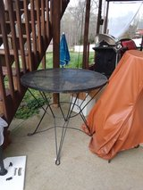 black iron outdoors table in Fort Campbell, Kentucky