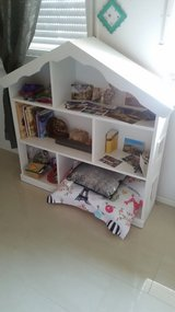 """White, all wood, """"dollhouse"""" bookcase in Ramstein, Germany"""