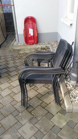4 outdoor metal chairs in Ramstein, Germany