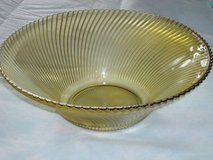 "vintage swirl glass serving bowl 11""W in Bolingbrook, Illinois"