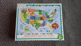 Like new!  United States Map Floor Puzzle in Westmont, Illinois