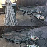 Patio set in Travis AFB, California