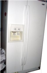 Whirlpool SIDE by SIDE Refrigerator Freezer Water Ice Dispenser White in Ruidoso, New Mexico