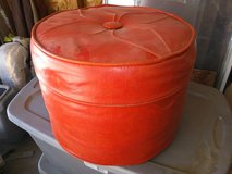 Red Ottoman in Yucca Valley, California