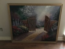 Large framed painting. 25x42 in Spring, Texas