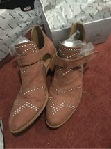 quips Sochi cut our pink suede studded booties 10 in Pensacola, Florida