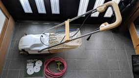 Makita Electric Lawnmower with Extension Cord and New Spare Mower Blade in Okinawa, Japan