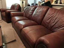 Leather Couch, Loveseat & Recliner in Kingwood, Texas