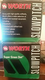 2 WORTH Super Green Dot Slowpitch Softball's ASA Size 11 in Okinawa, Japan