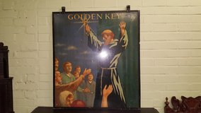 Golden Key Pub Sign in Lakenheath, UK