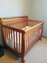 Crib (mattress, mattress pad and breathable bumper pad) in St. Charles, Illinois